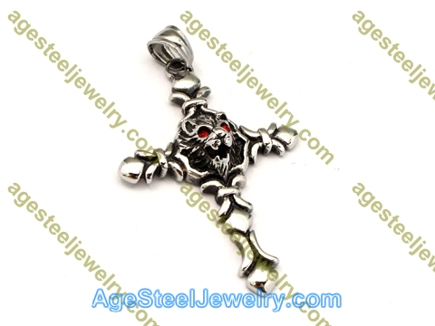 Cross Pendant P5497 Red