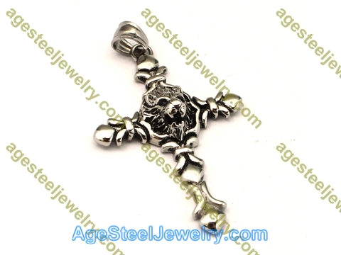 Cross Pendant P5498 Black