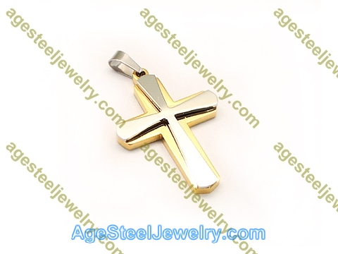 Cross Pendant P5590 Gold