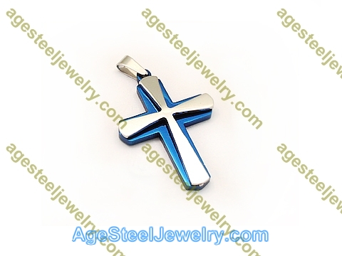 Cross Pendant P5592 Blue