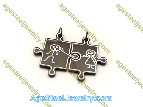 Couple Pendant P5594 Black