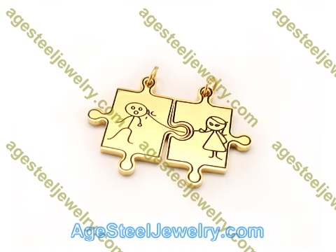 Couple Pendant P5595 Gold