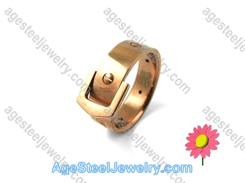 Plating Ring Rose Gold R1232