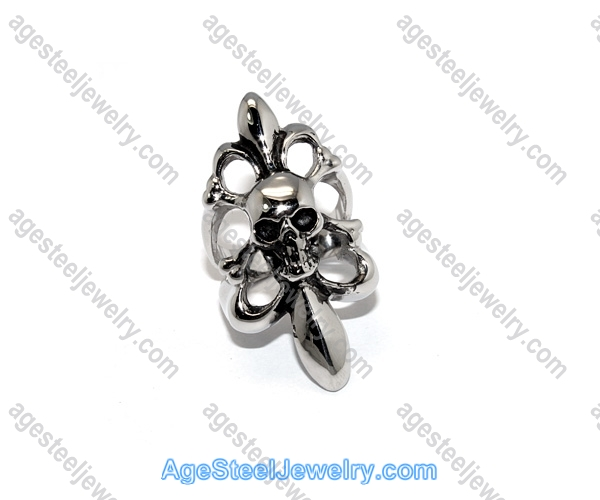 Casting Ring R2361 Exaggerated Skull