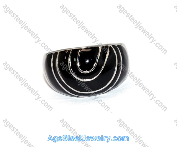 Casting Ring R2367 Black Circle Pattern