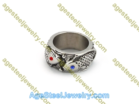 Casting Ring R3004 Red & Blue