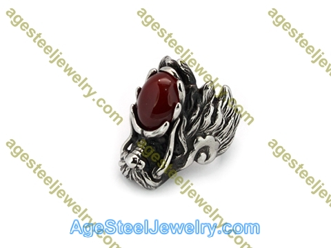 Stone Ring R3007 Red