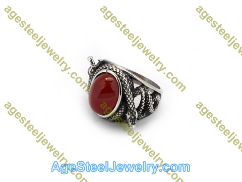 Stone Ring R3009 Red