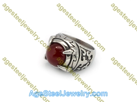 Stone Ring R3011 Red