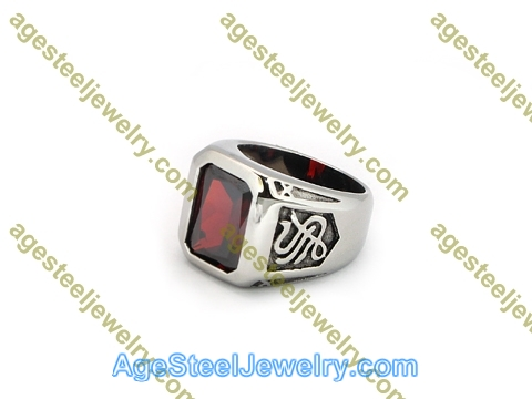 Stone Ring R3021 Red