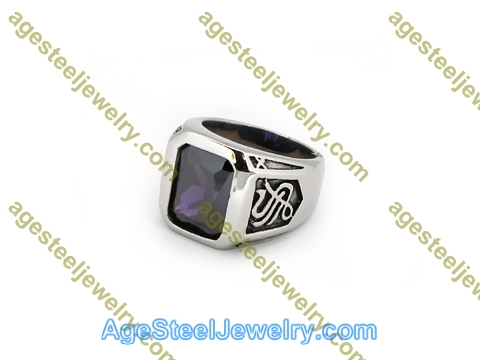 Stone Ring R3023 Purple
