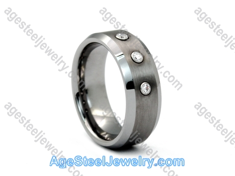 Tungsten Ring R9648 Mousika