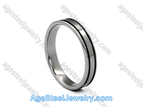 Tungsten Ring R9657 Black