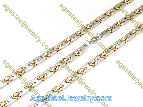 Necklace & Bracelet S0838 Gold